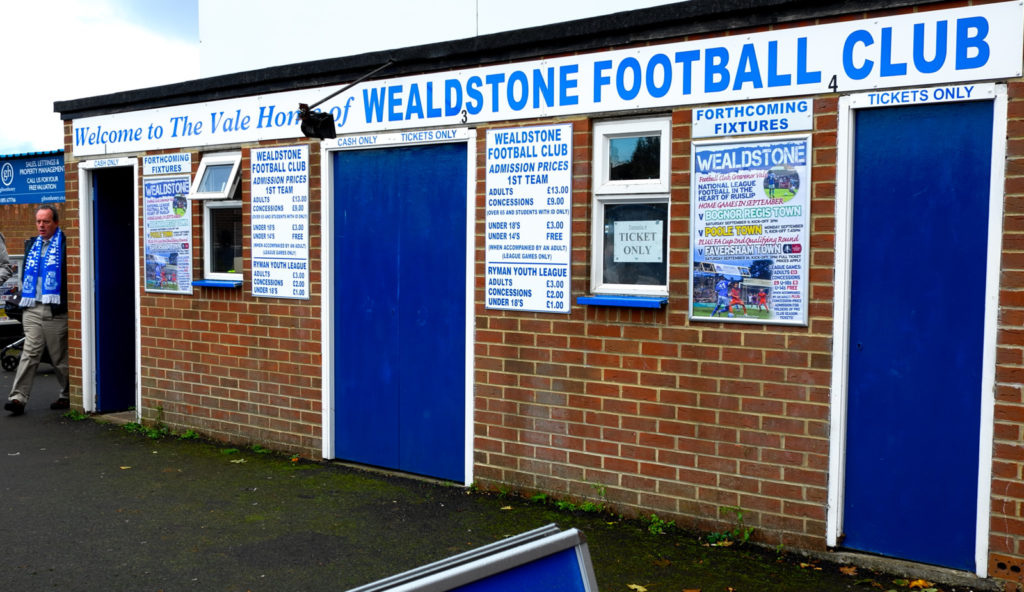 Wealdstone – Bognor Regis Town 3 – 0, The Vale, National League South, 9/9 – 2017
