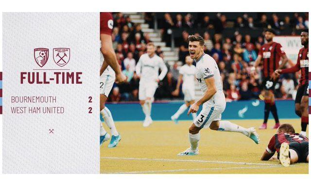 Bournemouth – West Ham 2-2
