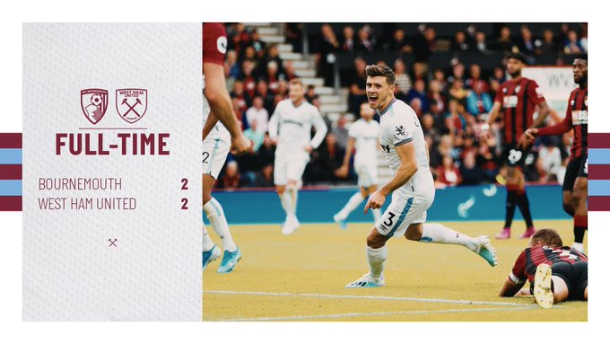 Bournemouth – West Ham 2-2
