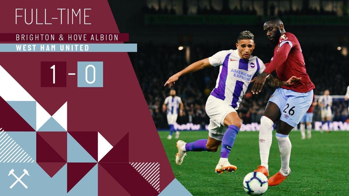 Brighton – West Ham 1-0