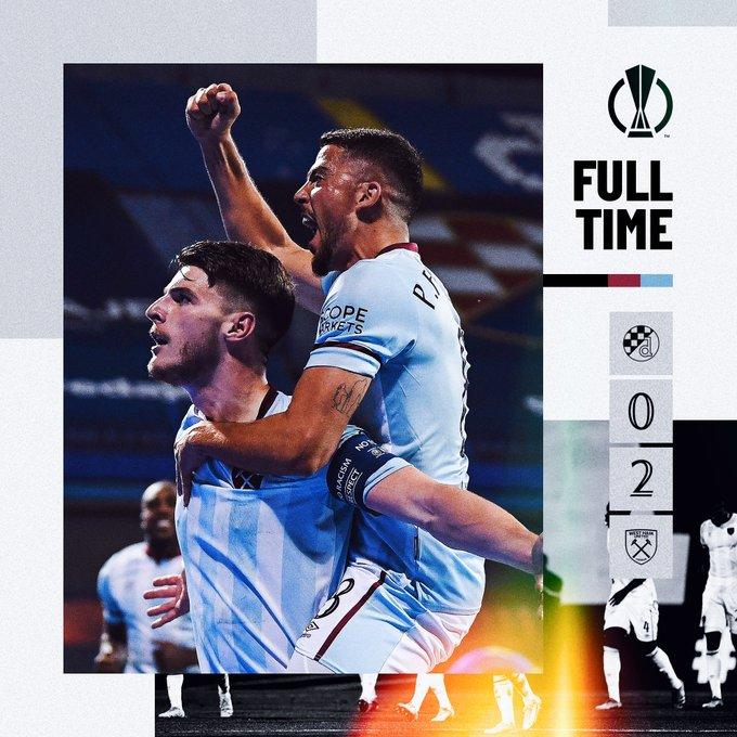 Dinamo Zagreb – West Ham 0-2