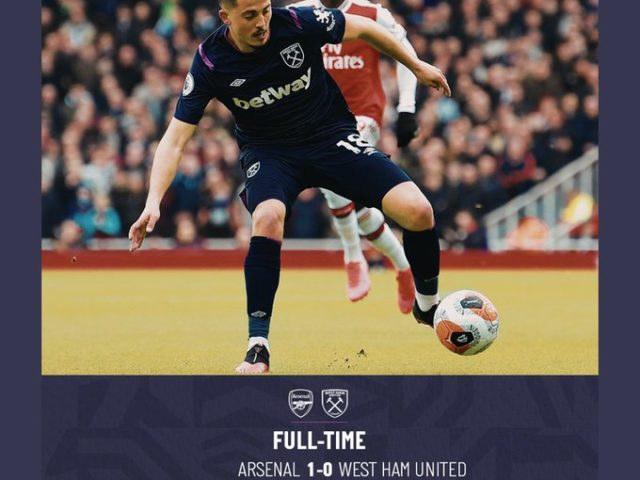 Arsenal – West Ham 1-0