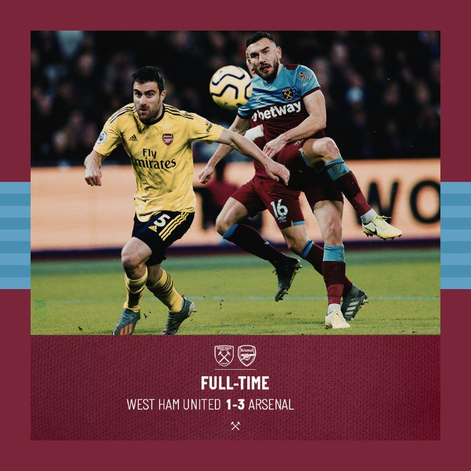 West Ham – Arsenal 1-3