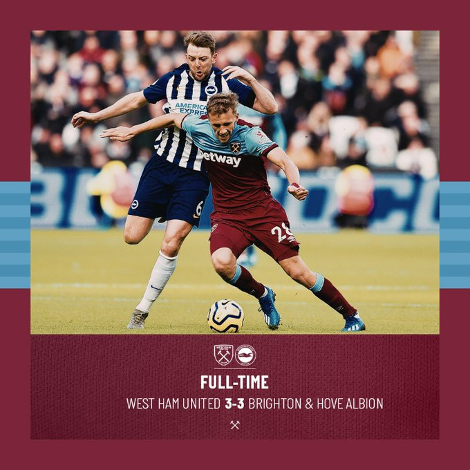 West Ham – Brighton 3-3