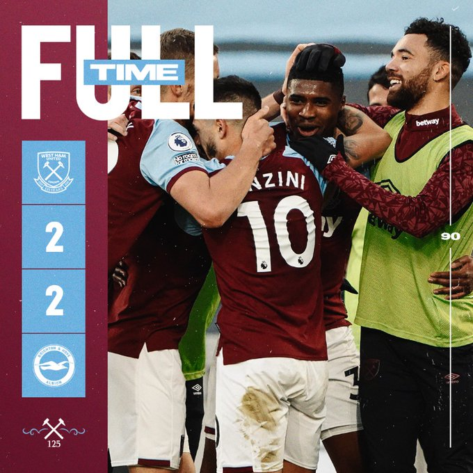 West Ham – Brighton 2-2