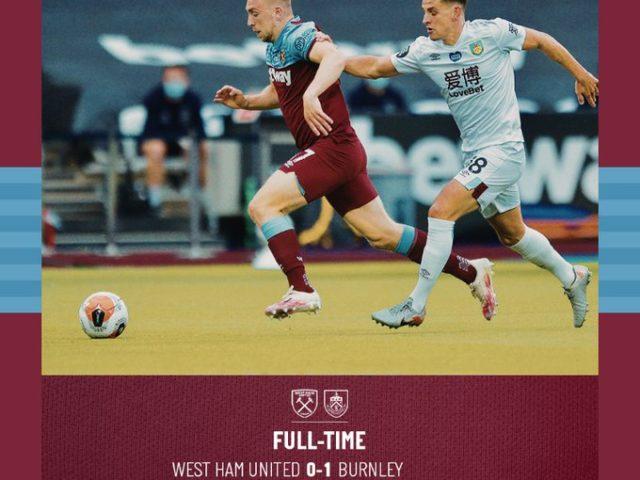 West Ham – Burnley 0-1