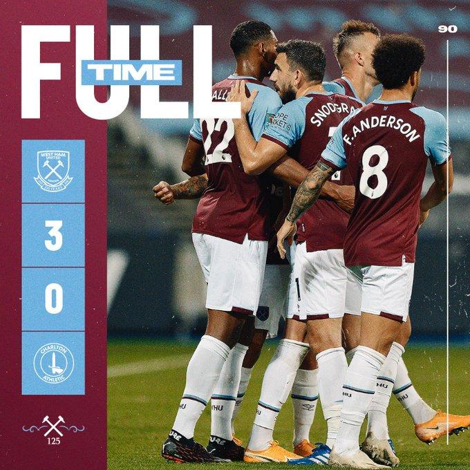 West Ham – Charlton 3-0