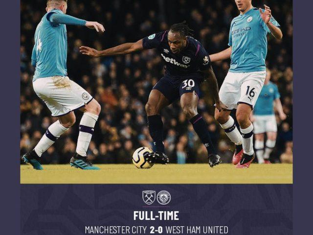 Manchester City – West Ham 2-0