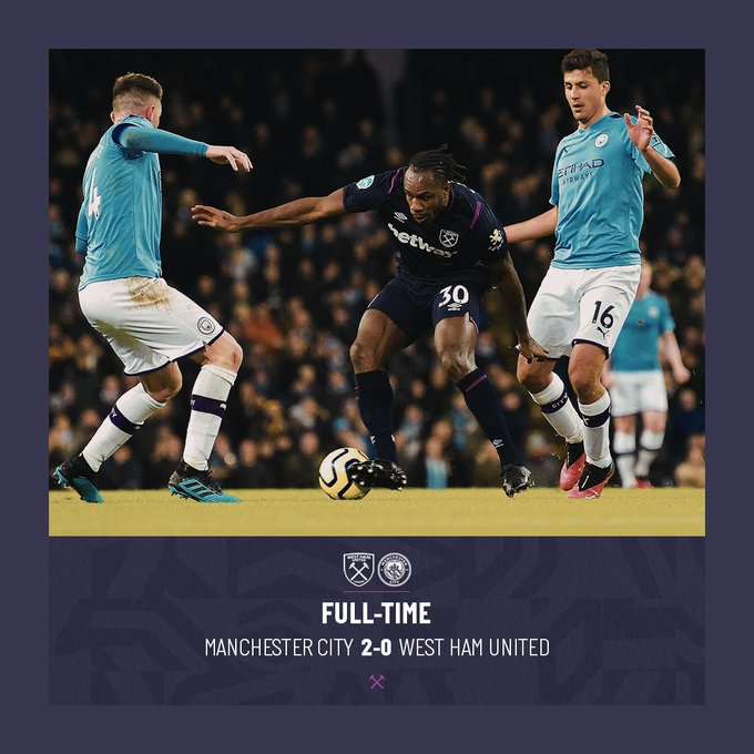 Manchester City – West Ham 2-0