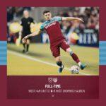 West Ham – West Bromwich 0-1