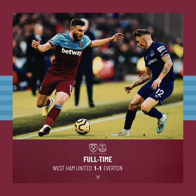 West Ham – Everton 1-1