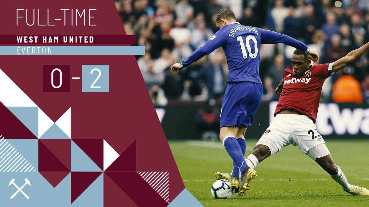 West Ham – Everton 0-2