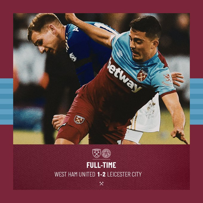 West Ham – Leicester 1-2
