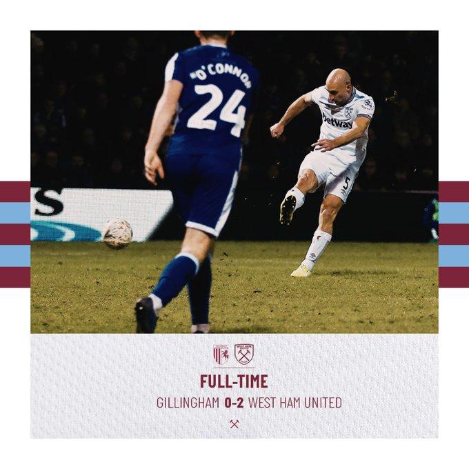 Gillingham – West Ham 0-2