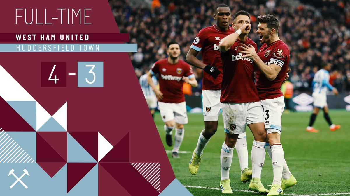 West Ham – Huddersfield 4-3