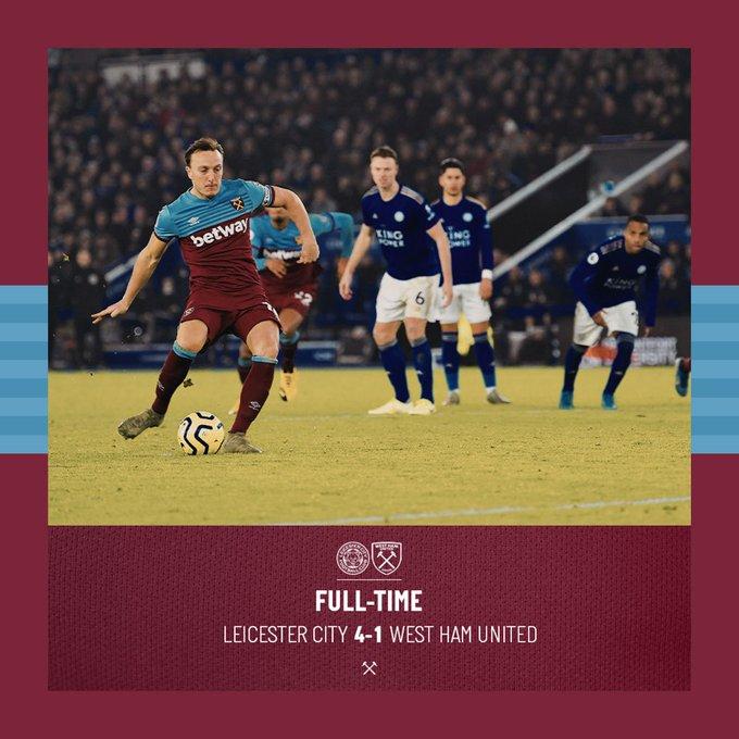 Leicester – West Ham 4-1