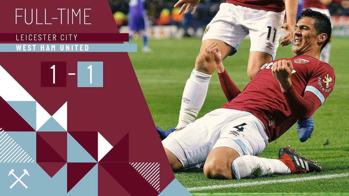Leicester – West Ham 1-1