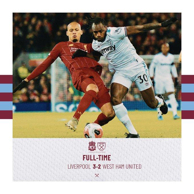 Liverpool – West Ham 3-2