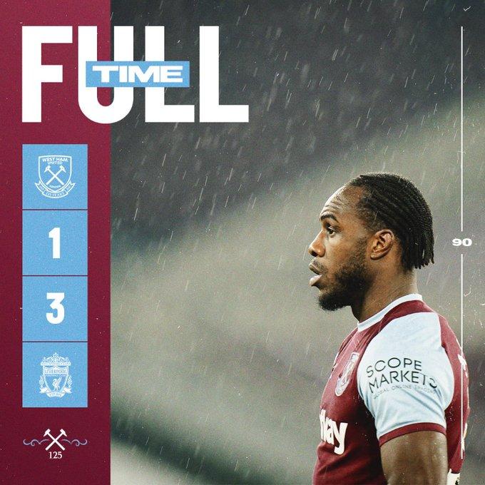 West Ham – Liverpool 1-3