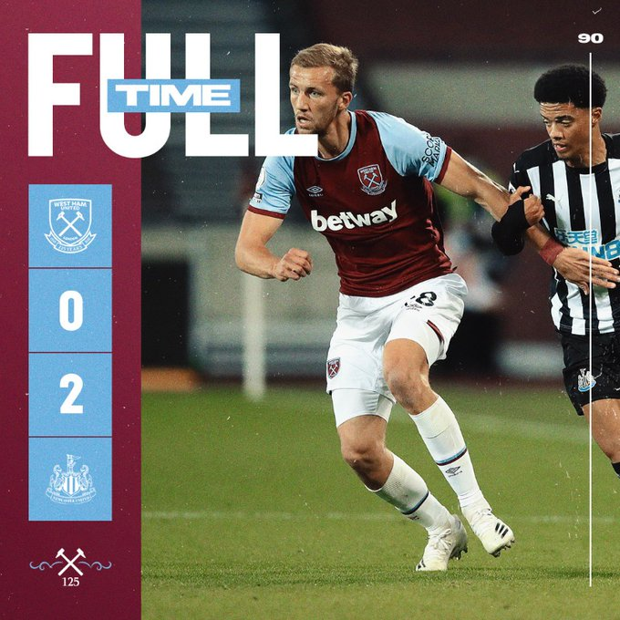 West Ham – Newcastle 0-2