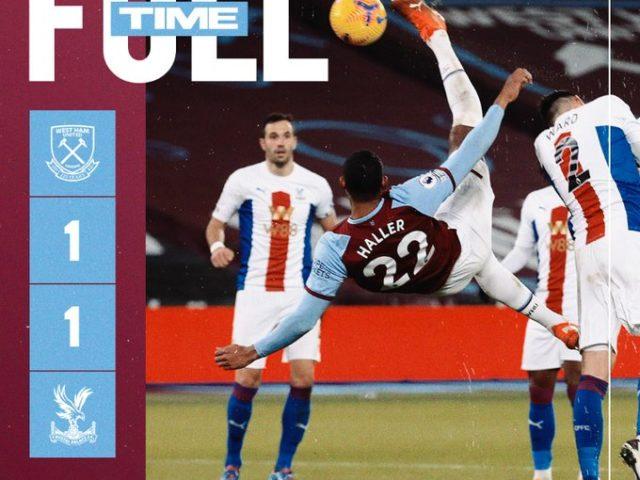West Ham – Crystal Palace 1-1