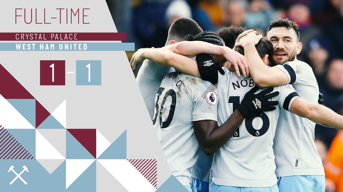 Crystal Palace – West Ham 1-1