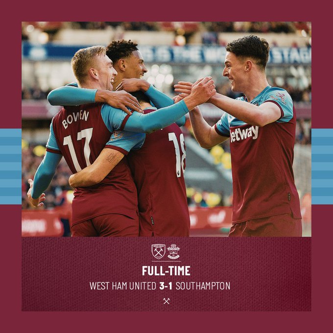 West Ham – Southampton 3-1