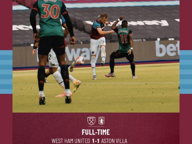 West Ham – Aston Villa 1-1