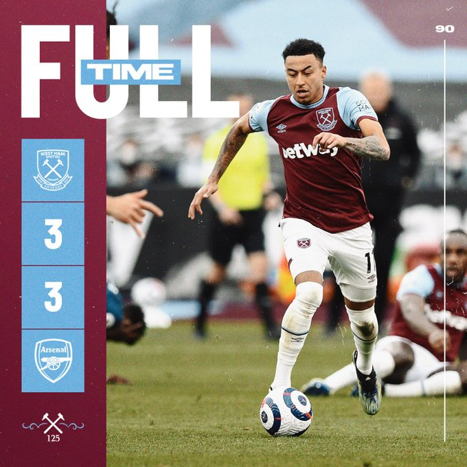 West Ham – Arsenal 3-3