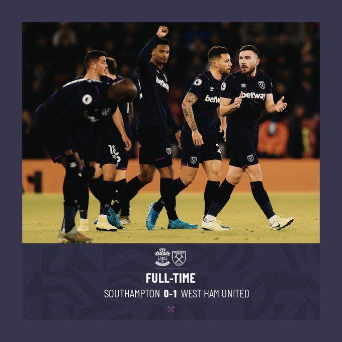 Southampton – West Ham 0-1