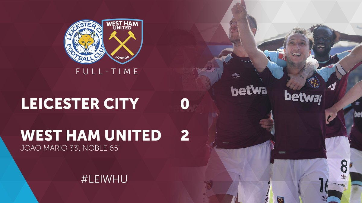 Leicester – West Ham 0-2