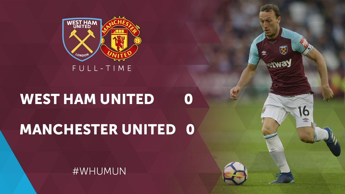 West Ham United – Manchester United 0-0