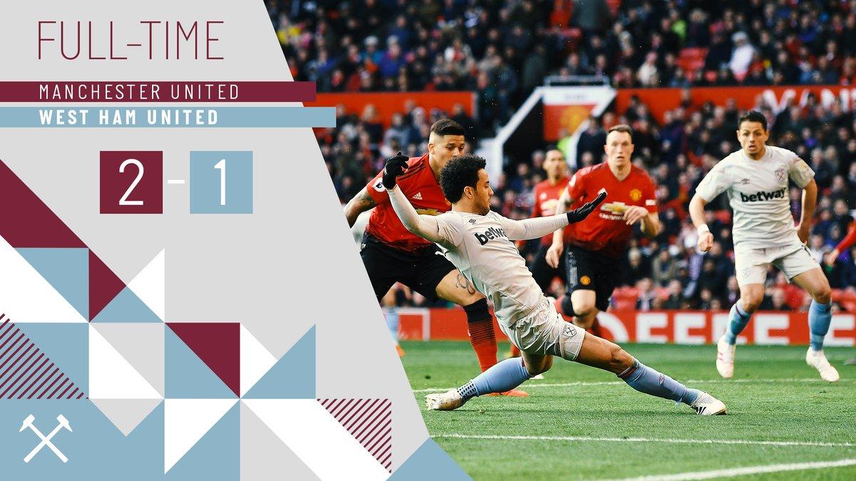 Manchester United – West Ham 2-1