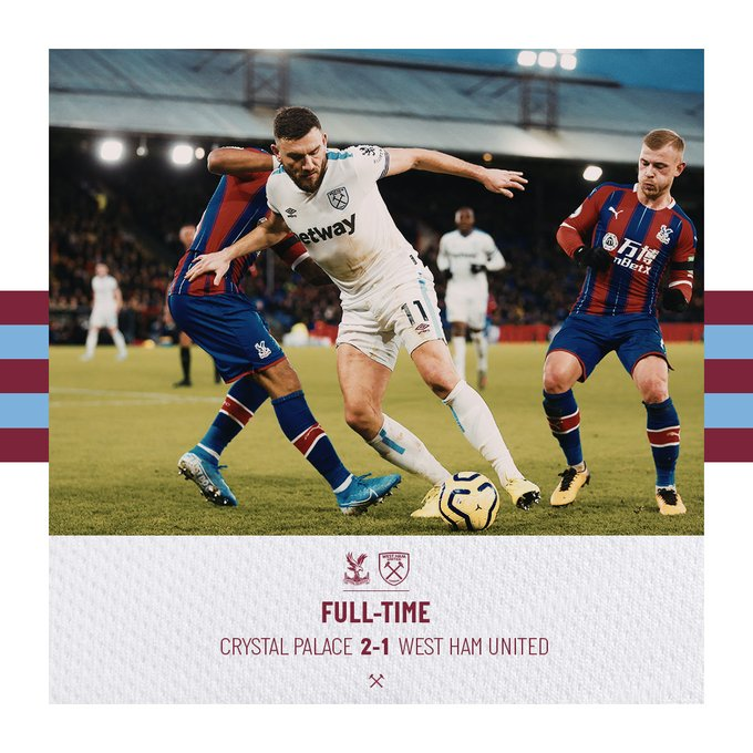 Crystal Palace – West Ham 2-1