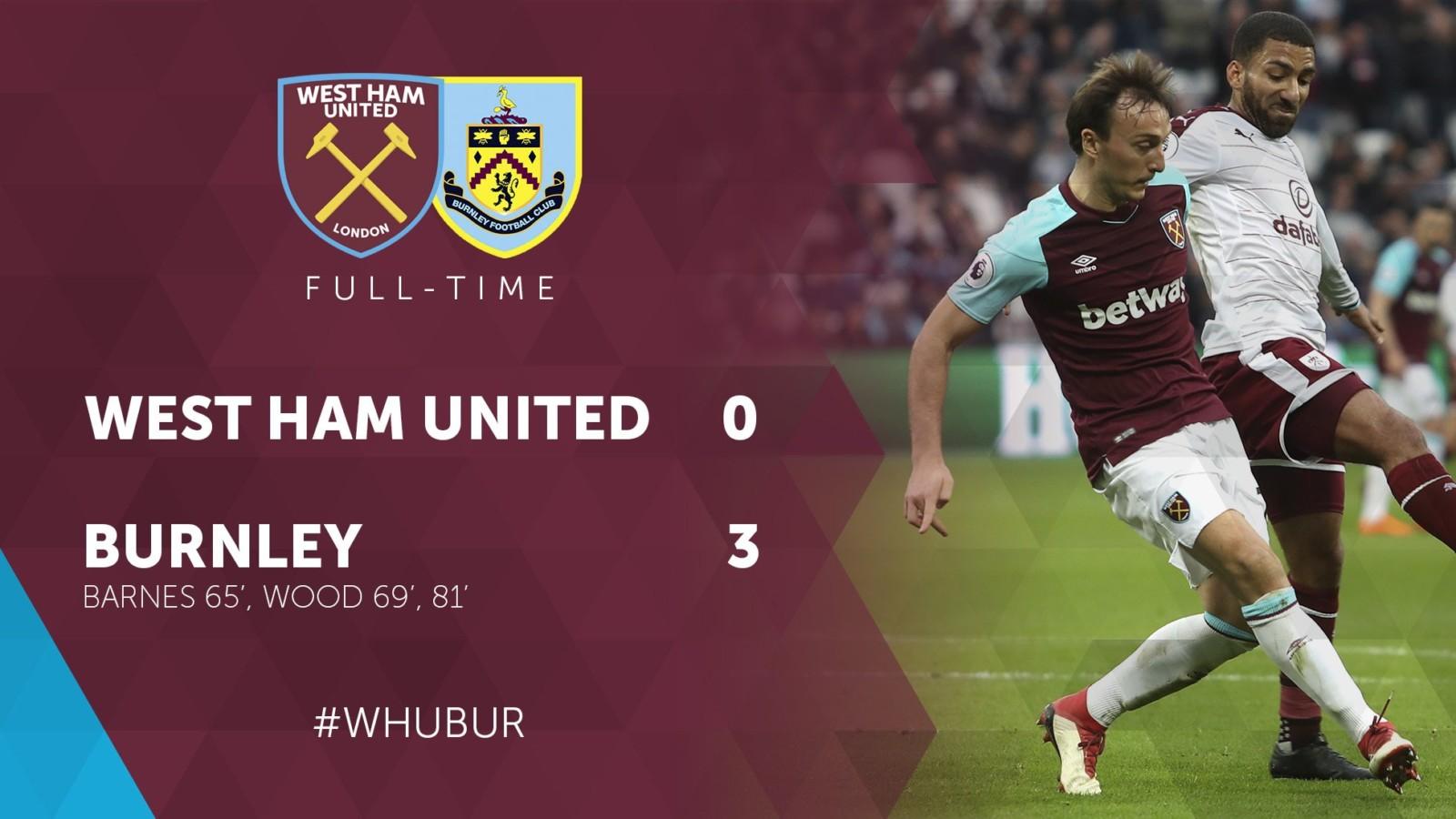 West Ham – Burnley 0 -3