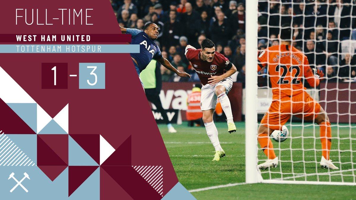 West Ham – Tottenham 1-3
