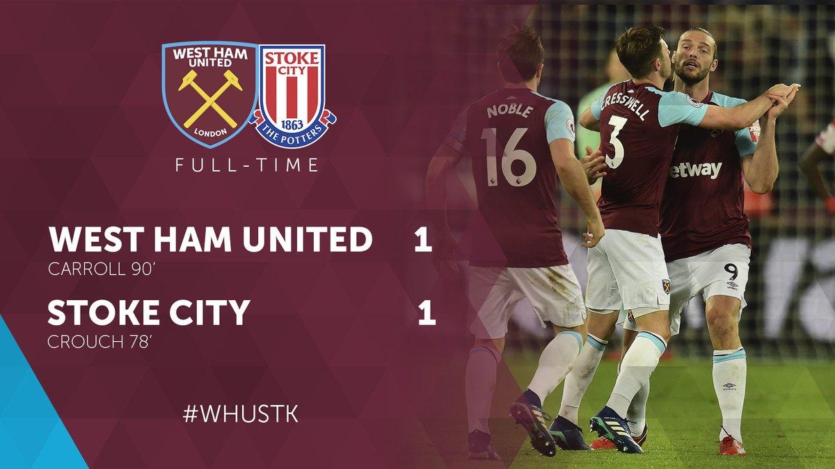 West Ham – Stoke 1-1