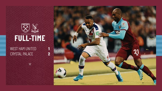 West Ham – Crystal Palace 1-2