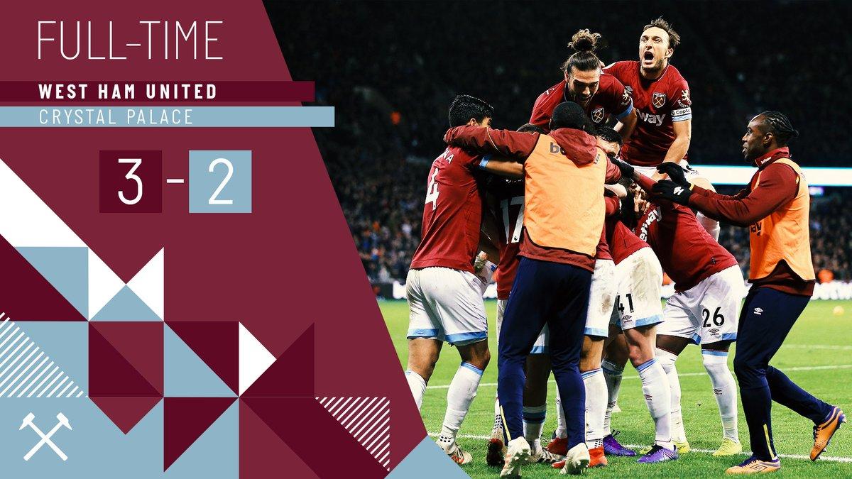 West Ham – Crystal Palace 3-2