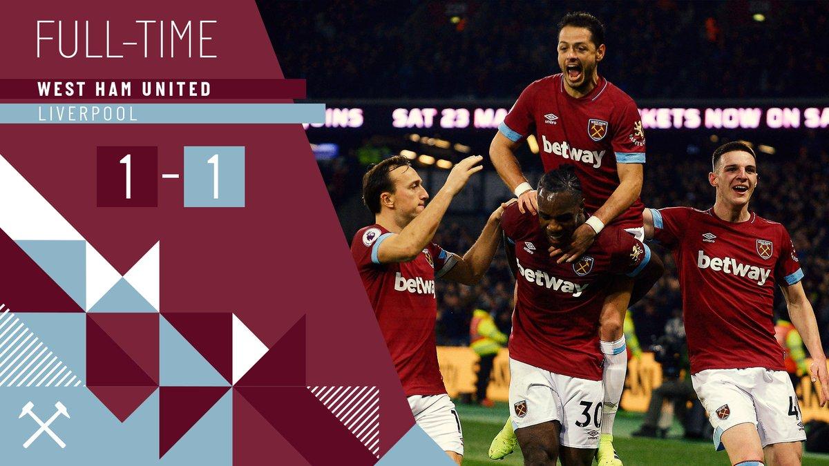 West Ham – Liverpool 1-1