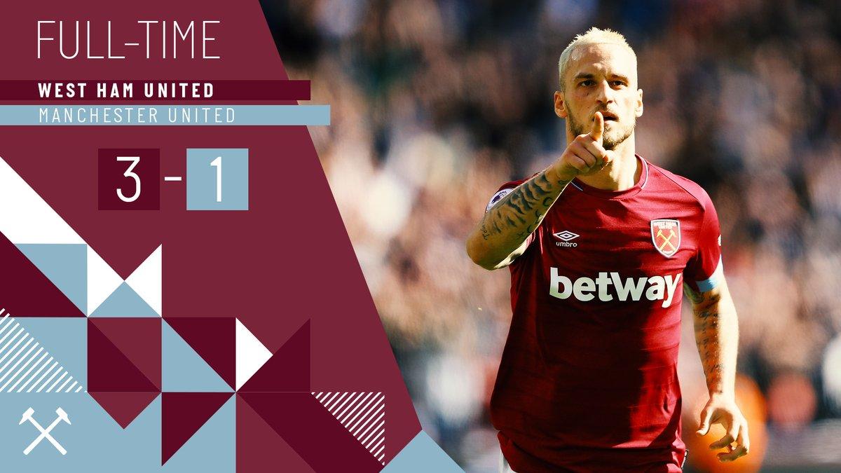 West Ham – Manchester United 3-1