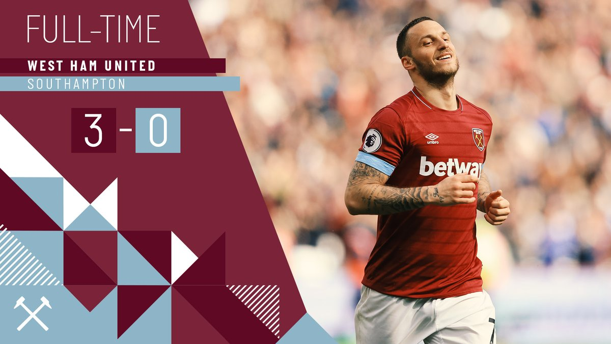 West Ham – Southampton 3-0