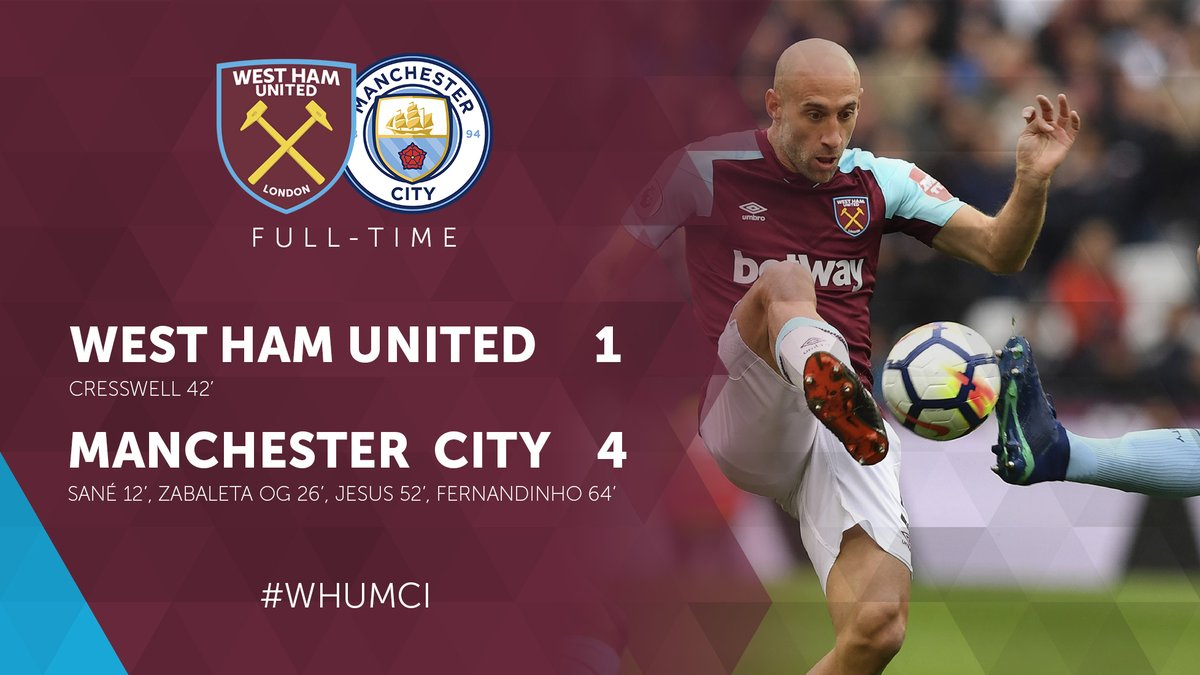 West Ham – Manchester City 1-4