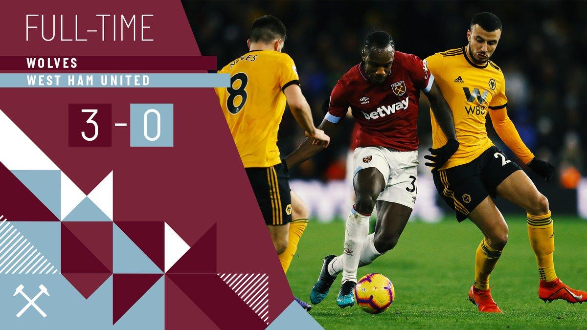 Wolverhampton – West Ham 3-0